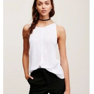 Free People Sleek N Easy Tank White